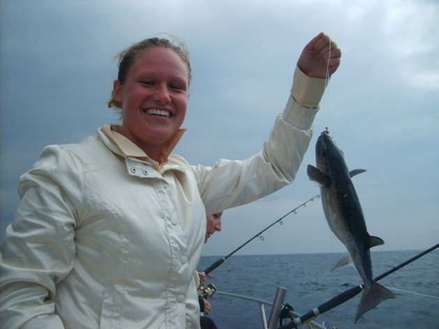 Vorige week werden er al Albacores en kleine Grootoog - Cavalier & Blue Marlin Sport Fishing Gran Canaria