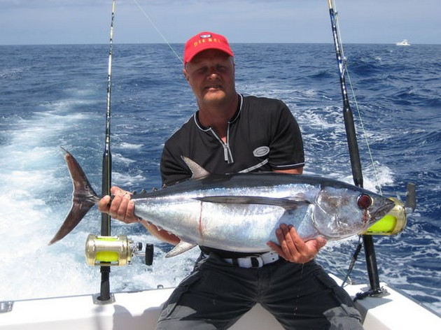 With the trolling fishing, the boats caught again nice - Cavalier & Blue Marlin Sport Fishing Gran Canaria