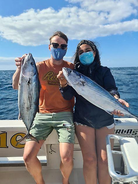 Glückliche Fischer - Cavalier & Blue Marlin Sportfischen Gran Canaria