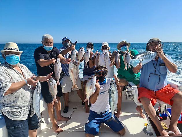 Viele spanische Seebrassen - Cavalier & Blue Marlin Sportfischen Gran Canaria