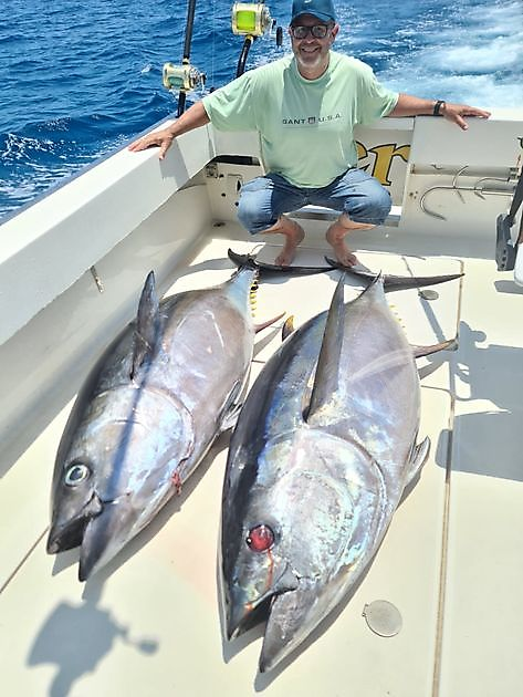 Cavalier atrapó 2/2 en Big Eye Tuna - Pesca Deportiva Cavalier & Blue Marlin Gran Canaria