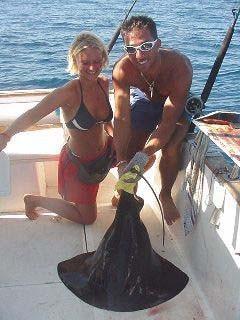 schwarzer Stachelrochen Cavalier & Blue Marlin Sportfischen Gran Canaria