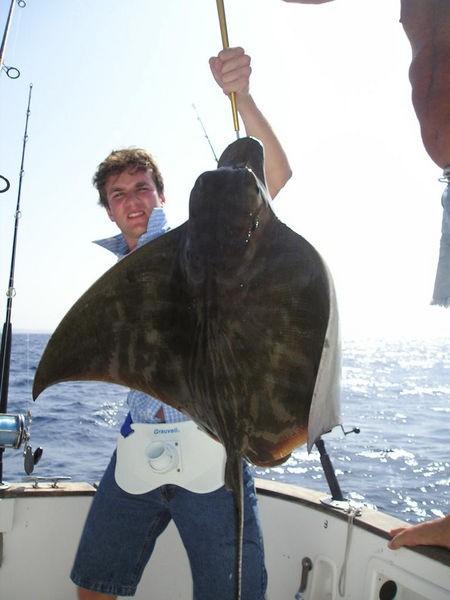 25/09 duckbill ray Cavalier & Blue Marlin Sport Fishing Gran Canaria