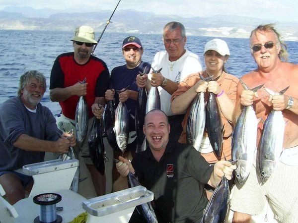 25/11 skipjack tuna Cavalier & Blue Marlin Sport Fishing Gran Canaria