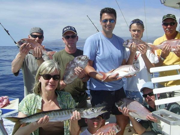 22/03 happy fishermen Cavalier & Blue Marlin Sport Fishing Gran Canaria