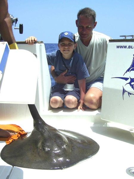 28/05 round stingray Cavalier & Blue Marlin Sport Fishing Gran Canaria