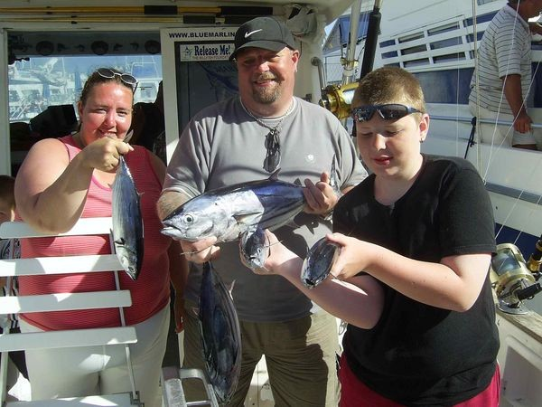05/08 happy fishermen Cavalier & Blue Marlin Sport Fishing Gran Canaria