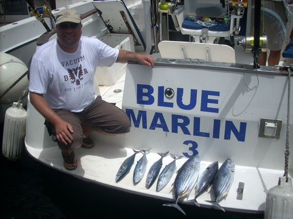 satisfied fisherman Cavalier & Blue Marlin Sport Fishing Gran Canaria
