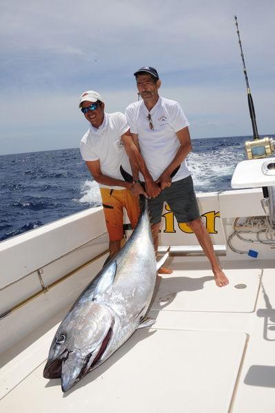 Big Eye Tuna 100 kilo Cavalier & Blue Marlin Sport Fishing Gran Canaria