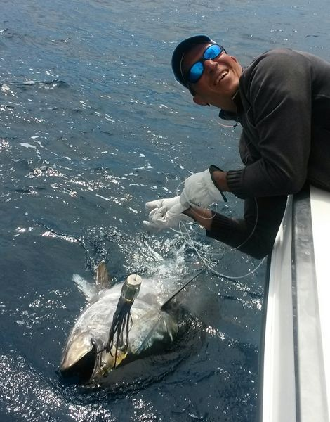 400 lbs Bluefin Tuna caught and released on the boat Cavalier Cavalier & Blue Marlin Sport Fishing Gran Canaria