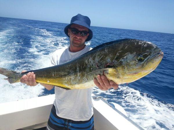 Dorado - Steven Tidey a bordo del barco Cavalier Pesca Deportiva Cavalier & Blue Marlin Gran Canaria