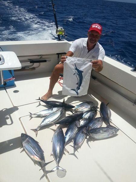 Atún barrilete: barriletes capturados en el Cavalier Pesca Deportiva Cavalier & Blue Marlin Gran Canaria