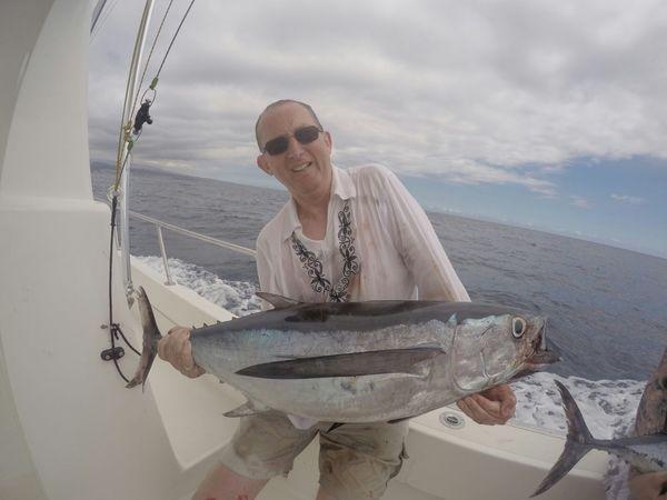 Albacore - Barry Rudge auf dem Boot Cavalier Cavalier & Blue Marlin Sportfischen Gran Canaria