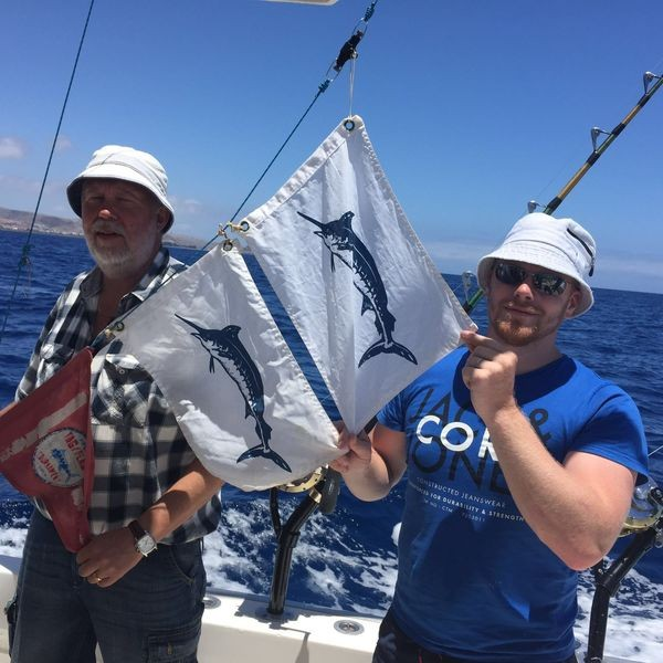Congratulations - Andrew Ironside  from  Irland and Stig-Arne Svensson from Sweden Cavalier & Blue Marlin Sport Fishing Gran Canaria
