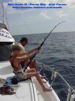 the happy fisherman Cavalier & Blue Marlin Sport Fishing Gran Canaria