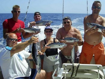 happy fishermen Cavalier & Blue Marlin Sport Fishing Gran Canaria