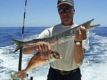 pargo rojo y baracuda Pesca Deportiva Cavalier & Blue Marlin Gran Canaria