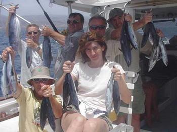 13/07 happy fishermen Cavalier & Blue Marlin Sport Fishing Gran Canaria