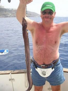 05/10 brown moray Cavalier & Blue Marlin Sport Fishing Gran Canaria