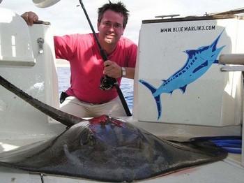 31/10 common stingray Cavalier & Blue Marlin Sport Fishing Gran Canaria