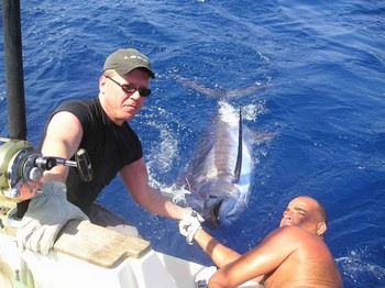 24/08 blue marlin Cavalier & Blue Marlin Sport Fishing Gran Canaria