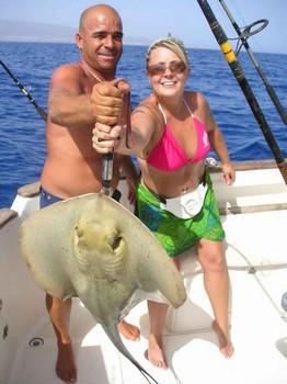 29/08 common stingray Cavalier & Blue Marlin Sport Fishing Gran Canaria