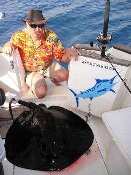 23/09 round stingray Cavalier & Blue Marlin Sport Fishing Gran Canaria