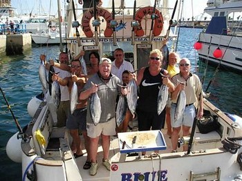 02/11 happy fishermen Cavalier & Blue Marlin Sport Fishing Gran Canaria