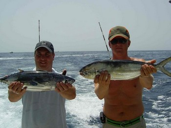 28/08 happy fishermen Cavalier & Blue Marlin Sport Fishing Gran Canaria