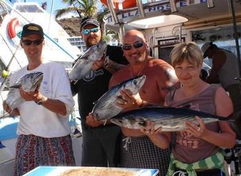14/01 north atlantic bonito Cavalier & Blue Marlin Sport Fishing Gran Canaria