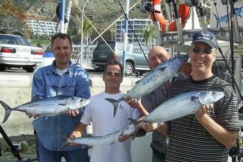 18/01 happy fishermen Cavalier & Blue Marlin Sport Fishing Gran Canaria