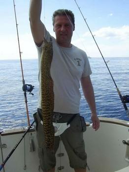 19/01 tiger moray Cavalier & Blue Marlin Sport Fishing Gran Canaria