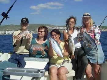 02/02 happy fishermen Cavalier & Blue Marlin Sport Fishing Gran Canaria