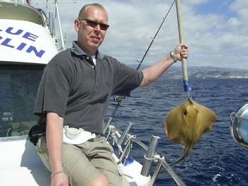 21/02 common stingray Cavalier & Blue Marlin Sport Fishing Gran Canaria