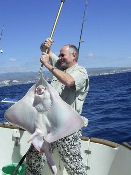 22/02 blonde ray Cavalier & Blue Marlin Sport Fishing Gran Canaria