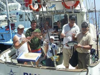 02/04 happy fishermen Cavalier & Blue Marlin Sport Fishing Gran Canaria