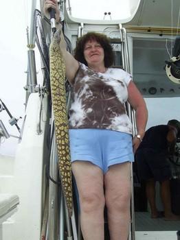 10/05 tiger moray Cavalier & Blue Marlin Sport Fishing Gran Canaria