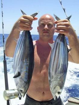 04/07 skipjack tuna Cavalier & Blue Marlin Sport Fishing Gran Canaria