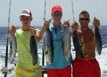 03/08 skipjack tuna Cavalier & Blue Marlin Sport Fishing Gran Canaria