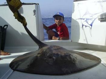 16/08 round stingray Cavalier & Blue Marlin Sport Fishing Gran Canaria