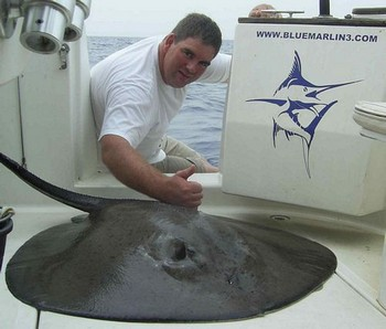 03/09 round stingray Cavalier & Blue Marlin Sport Fishing Gran Canaria