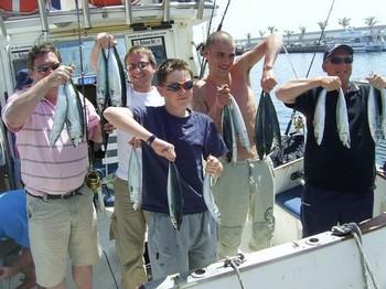 31/03 everybody happy Cavalier & Blue Marlin Sport Fishing Gran Canaria