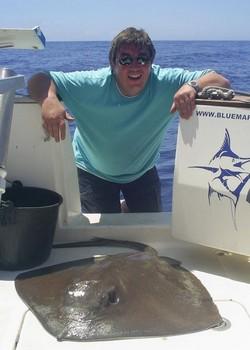 20/04 mantarraya común Pesca Deportiva Cavalier & Blue Marlin Gran Canaria
