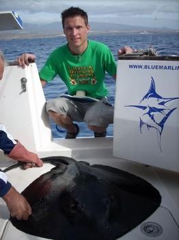 04/01 roughtail stingray Cavalier & Blue Marlin Sport Fishing Gran Canaria