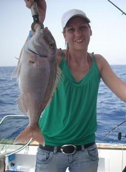 she did it Cavalier & Blue Marlin Sport Fishing Gran Canaria