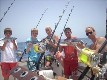 21/07 skipjack tuna Cavalier & Blue Marlin Sport Fishing Gran Canaria