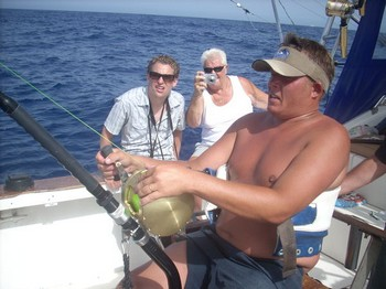 the fight Cavalier & Blue Marlin Sport Fishing Gran Canaria