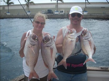 29/09 red snappers Cavalier & Blue Marlin Sport Fishing Gran Canaria