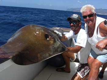 30/09 common stingray Cavalier & Blue Marlin Sport Fishing Gran Canaria