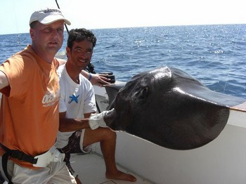 14/10 black stingray Cavalier & Blue Marlin Sport Fishing Gran Canaria